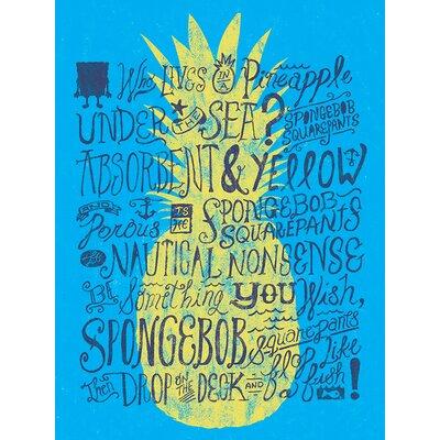 Art Group Spongebob - Pineapple Typography Canvas Wall Art