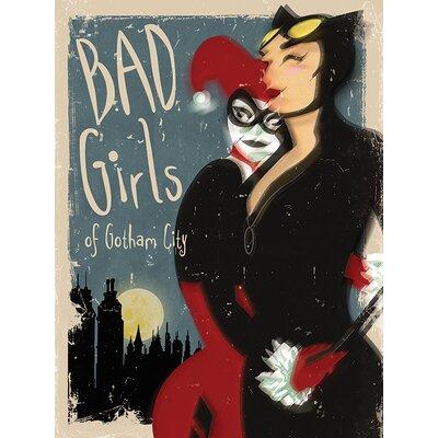 Art Group Batman - Bad Girls Vintage Advertisement Canvas Wall Art