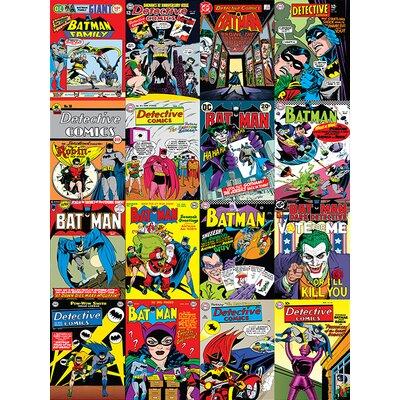 Art Group DC Comics - Batman Comic Covers Montage Vintage Advertisement Canvas Wall Art
