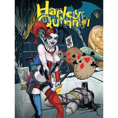 Art Group Harley Quinn - Hammer Vintage Advertisement Canvas Wall Art