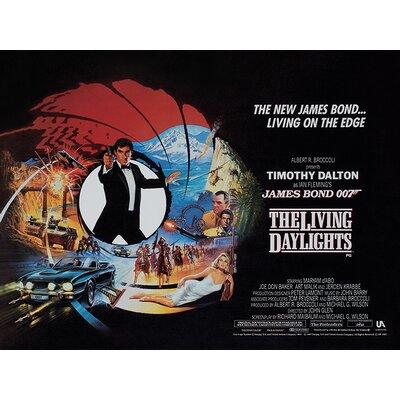 Art Group James Bond - The Living Daylights - Living on the Edge Vintage Advertisement Canvas Wall Art