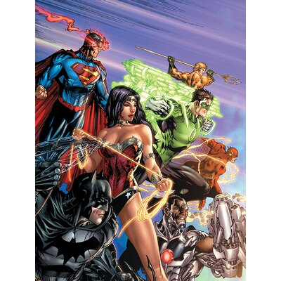 Art Group DC Justice League - Ready for Action Vintage Advertisement Canvas Wall Art