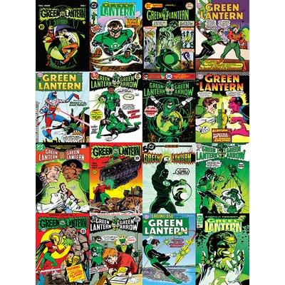 Art Group DC Comics - Lantern Comic Covers Montage Vintage Advertisement Canvas Wall Art