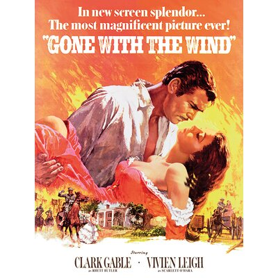 Art Group Gone with the Wind Vintage Advertisement Canvas Wall Art