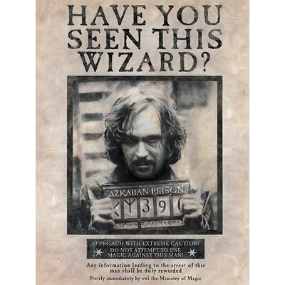 Art Group Harry Potter - Wanted Sirius Vintage Advertisement Canvas Wall Art
