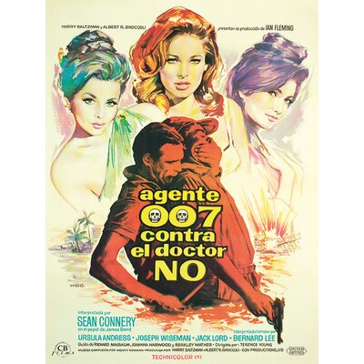 Art Group James Bond - Dr. No - Agente 007 Vintage Advertisement Canvas Wall Art
