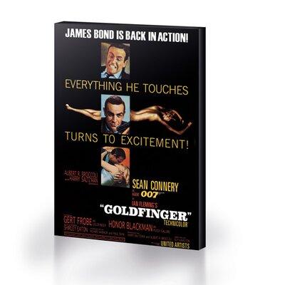 Art Group Bond Goldfinger - Excitement Vintage Advertisement Canvas Wall Art