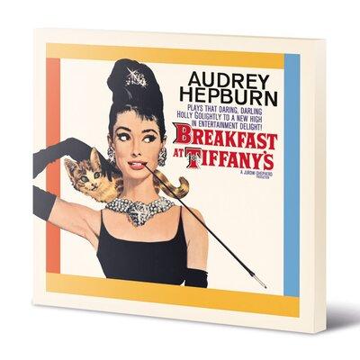 Art Group Audrey Hepburn - Breakfast at Tiffany's Vintage Advertisement Canvas Wall Art
