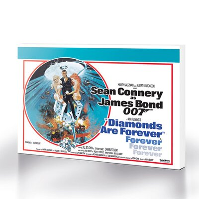 Art Group Bond Diamonds Are Forever - Circle Vintage Advertisement Canvas Wall Art