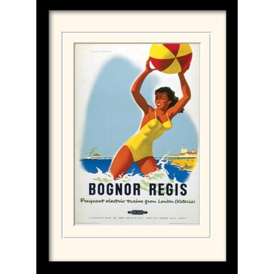 Art Group Bognor Regis Framed Vintage Advertisement