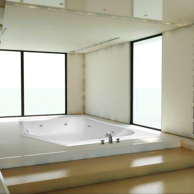 "Designer Katarina 69"" x 69"" Soaking Bathtub Finish: Biscuit"