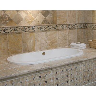 "Designer Elle 72"" x 36"" Whirlpool Bathtub Finish: Almond"