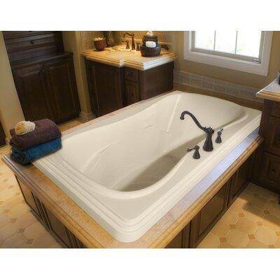 "Designer Jennifer 72"" x 48"" Whirlpool Bathtub Finish: White"
