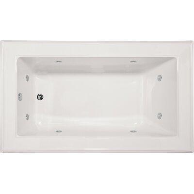 "Designer Angel 72"" x 42"" Whirlpool Bathtub Finish: White"