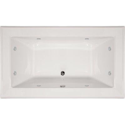 "Designer Angel 66"" x 42"" Soaking Bathtub Finish: White"