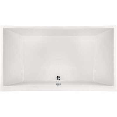 """Designer Eileen 86"""" x 50"""" Soaking Bathtub Finish: White"""