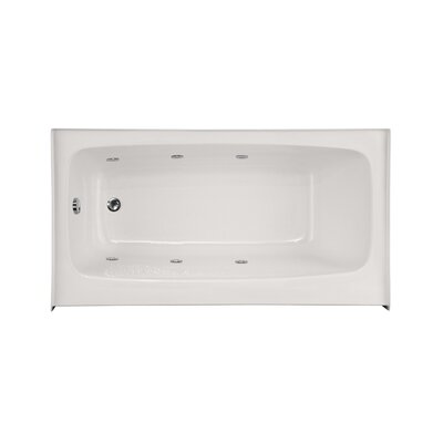 "Builder Regan 72"" x 32"" Whirlpool Bathtub Finish: White"