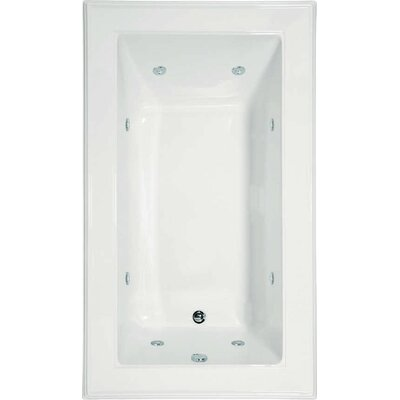 "Designer Angel 72"" x 42"" Soaking Bathtub Finish: Almond"