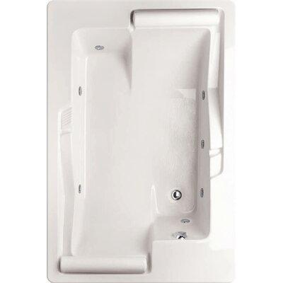 """Designer Ashley 72"""" x 48"""" Whirlpool Bathtub Finish: Almond"""