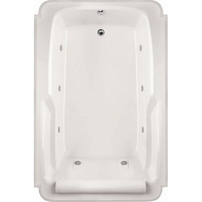 "Designer Atlandia 74"" x 48"" Soaking Bathtub Finish: Almond"