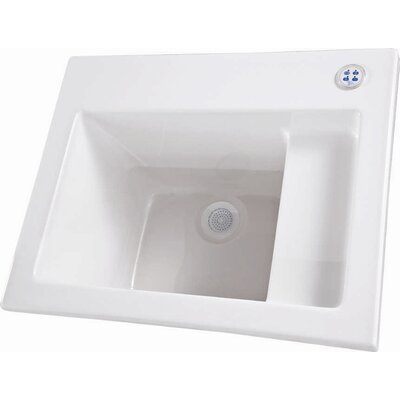 "26"" x 21"" Single Designer Delicate Touch Laundry Sink Finish: Bone"