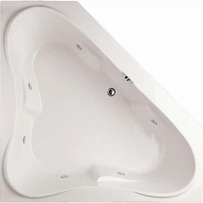 """Designer Erica 60"""" x 60"""" Soaking Bathtub Finish: White"""