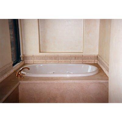 "Designer Aimee 72"" x 36"" Soaking Bathtub Finish: Almond"