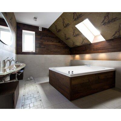 """Designer Alexis 60"""" x 48"""" Air Tub Finish: Almond"""