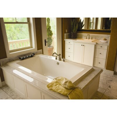 "Designer Angel 66"" x 42"" Soaking Bathtub Finish: Almond"