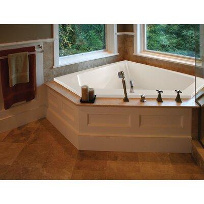 """Designer Courtney 60"""" x 48"""" Whirlpool Bathtub Finish: Biscuit, Drain Location: Center"""