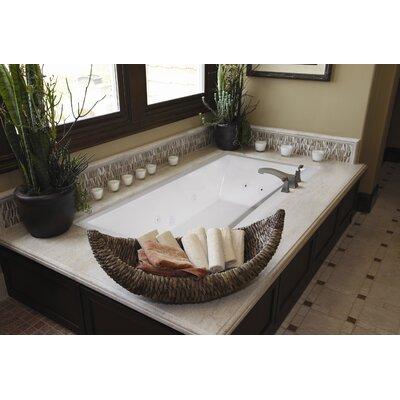 """Designer Eileen 74"""" x 38"""" Soaking Bathtub Finish: White"""
