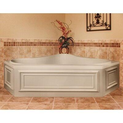 "Designer Erica 60"" x 60"" Soaking Bathtub Finish: Almond"