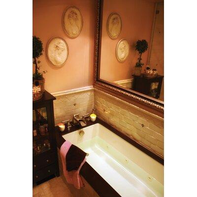 """Designer Lacey 72"""" x 36"""" Whirlpool Bathtub Finish: Bone"""