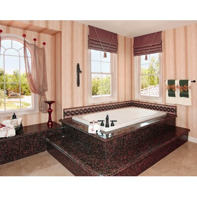 "Designer Melissa 66"" x 36"" Whirlpool Bathtub Finish: Almond"