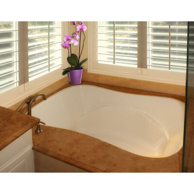 "Designer Monterey 72"" x 42"" Whirlpool Bathtub Finish: Almond"