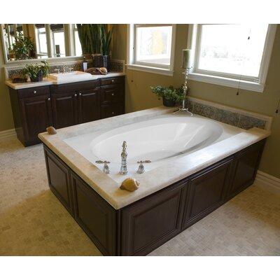 "Designer Ovation 60"" x 42"" Whirlpool Bathtub Finish: Almond"