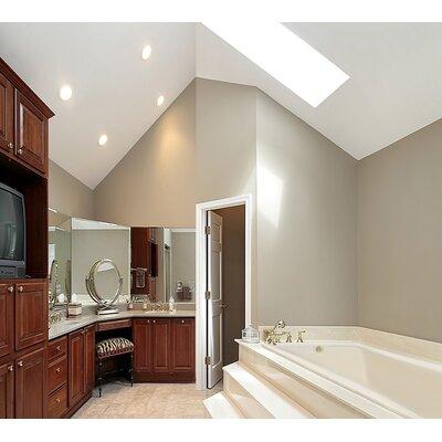 """Designer Rosemarie 60"""" x 32"""" Soaking Bathtub Finish: Biscuit"""