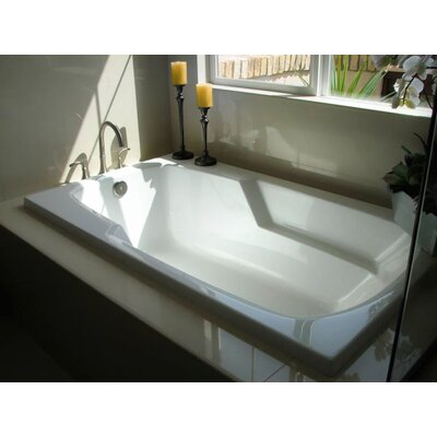 "Builder 60"" x 32"" Whirlpool Bathtub Finish: Almond"