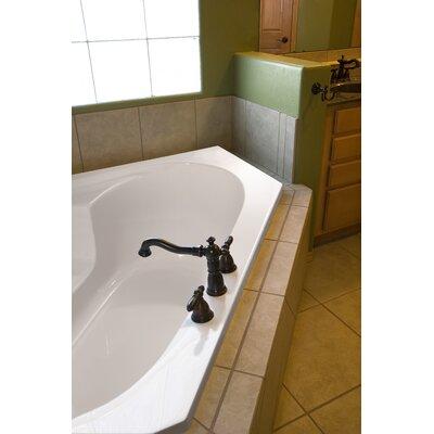 "Designer Rincon 59"" x 59"" Soaking Bathtub Finish: Biscuit"
