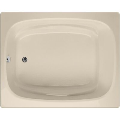 "Designer Alexis 60"" x 48"" Soaking Bathtub Finish: Almond"