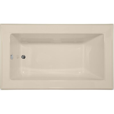 "Designer Angel 72"" x 42"" Whirlpool Bathtub Finish: Almond"