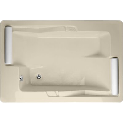 "Designer Ashley 72"" x 48"" Soaking Bathtub Finish: Almond"