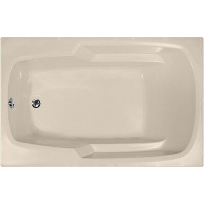 "Builder 60"" x 36"" Soaking Bathtub Finish: Almond"