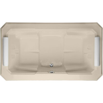 "Designer Mystique 78"" x 44"" Soaking Bathtub Finish: Almond"