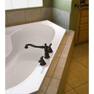 """Designer Rincon 59"""" x 59"""" Soaking Bathtub Finish: White"""
