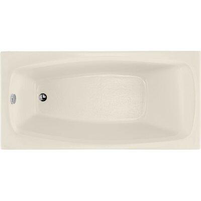 """Designer Solitude 60"""" x 30"""" Soaking Bathtub Finish: Biscuit"""
