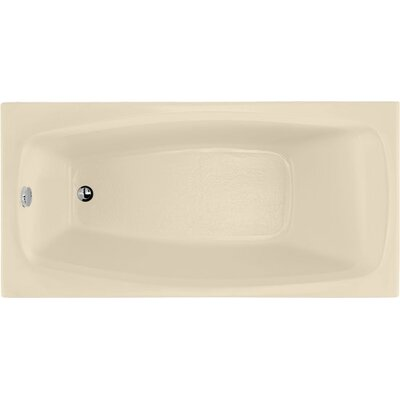 "Designer Solitude 60"" x 30"" Soaking Bathtub Finish: Bone"