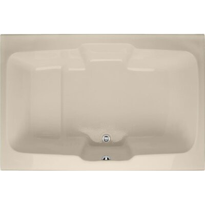 "Designer Victoria 73"" x 48""Soaking Bathtub Finish: Almond"