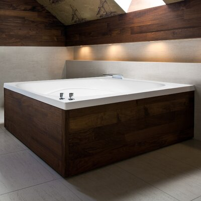 "Designer Alexis 60"" x 48"" Soaking Bathtub Finish: Almond"