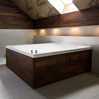 "Designer Alexis 60"" x 48"" Whirlpool Bathtub Finish: Almond"